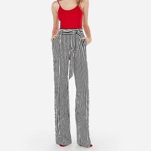 Express High Waisted Striped Wide-Leg Pant